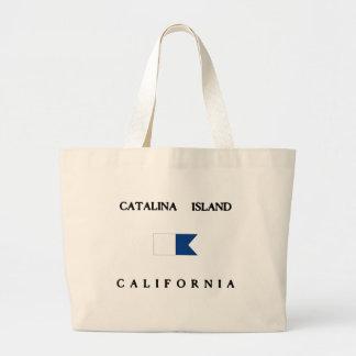 Catalina Island California Alpha Dive Flag Large Tote Bag
