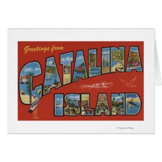 Catalina Island, California - Large Letter Scene Card