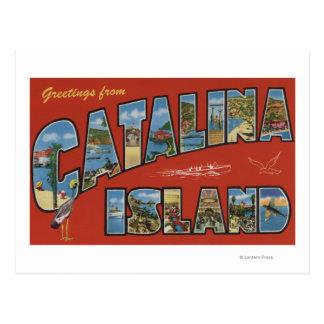 Catalina Island, California - Large Letter Scene Postcard