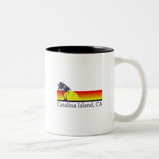 Catalina Island California Two-Tone Coffee Mug
