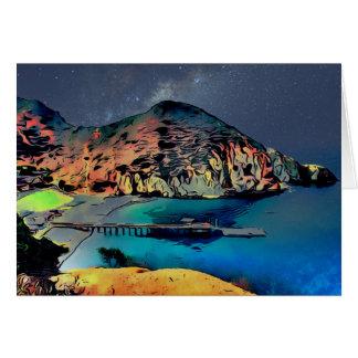 Catalina Island Camp Fox Card 001 Night Sky