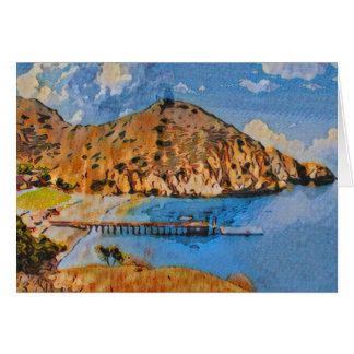 Catalina Island Camp Fox Card 001 Painted look