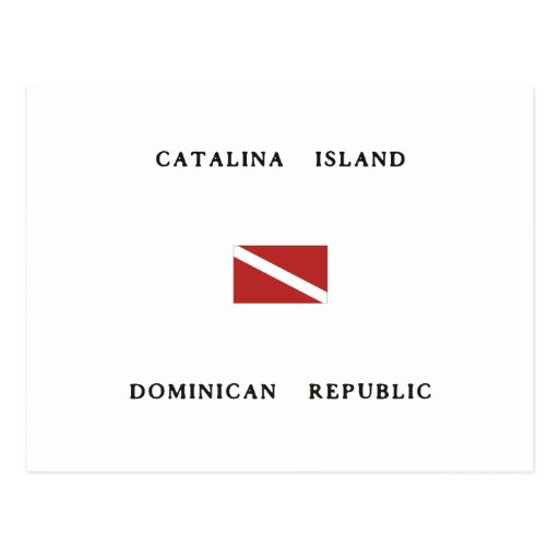 Catalina Island Dominican Republic Scuba Dive Flag Post Cards