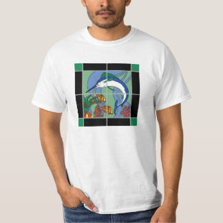 Catalina Island Marlin Mural Vintage Tile T-Shirt