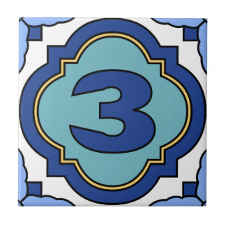 Catalina Island Number Address Tile 3