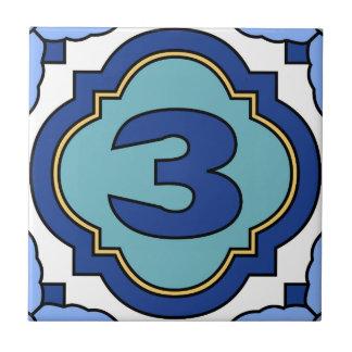 Catalina Island Number Address Tile 3