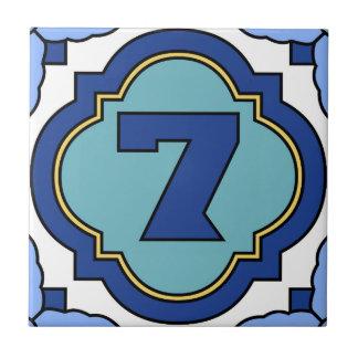 Catalina Island Number Address Tile 7