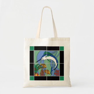 Catalina Island Tile Marlin Mural Tote Bag