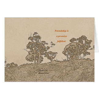 """Catalina Trees #2"" with poem: Simple Friendship Card"