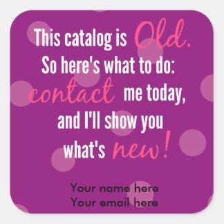 Catalogue change label stickers