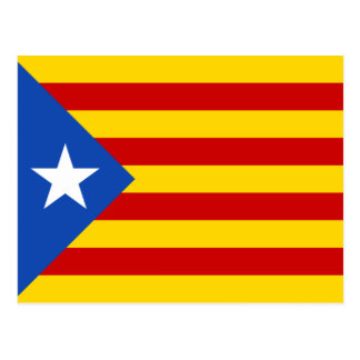 Catalonia Estelada Flag Postcard