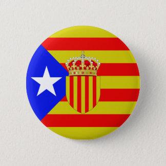 Catalonia flag 6 cm round badge