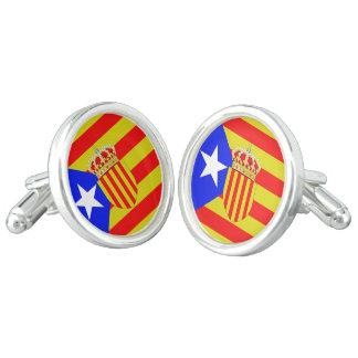 Catalonia flag cufflinks
