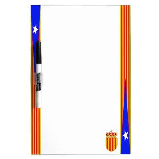 Catalonia flag dry erase board
