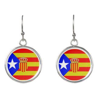 Catalonia flag earrings