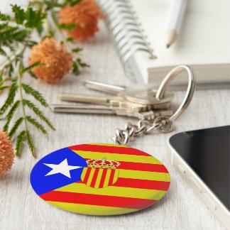 Catalonia flag key ring