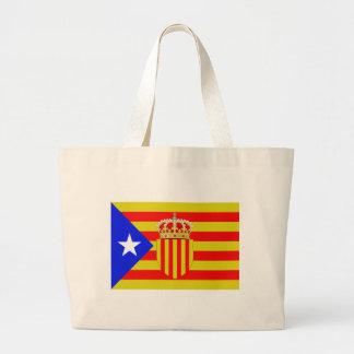 Catalonia flag large tote bag