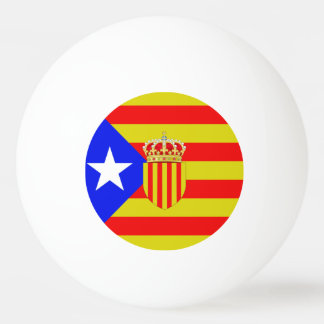 Catalonia flag ping pong ball