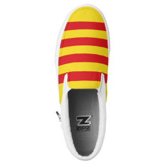 Catalonia Flag Slip On Shoes