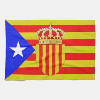 Catalonia flag tea towel