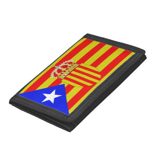 Catalonia flag trifold wallet