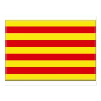 Catalonia (Spain) Flag Postcard