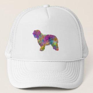 Catalonian sheepdog in watercolor trucker hat