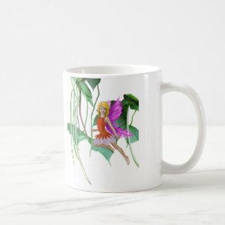 Catalpa Tree Fairy among Seed Pods Coffee Mug