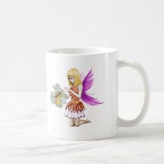 Catalpa Tree Fairy with Flower Coffee Mug