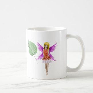 Catalpa Tree Fairy with Leaf Coffee Mug