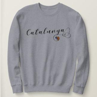 Catalunya Heart Sweatshirt, Catalan Estelada Sweatshirt