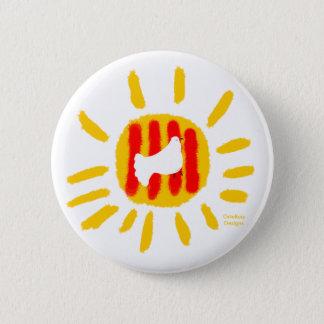 Catalunya sun, Catalonia peace dove, button