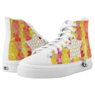 Catalunya Trencadis  Zipz High Top Shoes