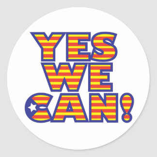 Catalunya, yes-we-can classic round sticker