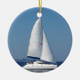 Catamaran Catchup Ceramic Ornament