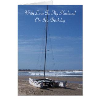 Catamaran Husband Birthday Card