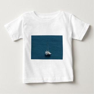 Catamaran moored offshore tee shirt