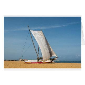 Catamaran, Negombo Beach, Sri Lanka Card