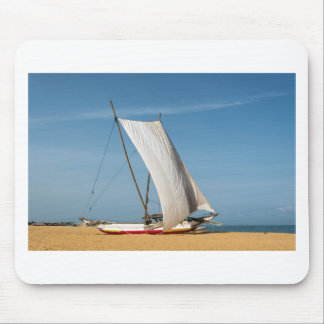 Catamaran, Negombo Beach, Sri Lanka Mouse Pad