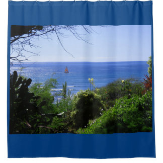 Catamaran Sailboat Shower Curtain