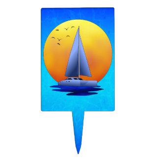 Catamaran Sailing Cake Topper