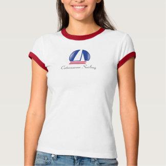 Catamaran Sailing_Pontoon Racing_Blue Moon Tee Shirts