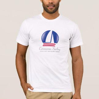 Catamaran Sailing_Pontoon Racing_BlueMoon template T-Shirt