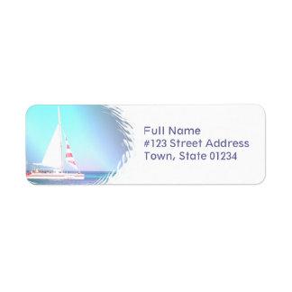 Catamaran Sailing Return Address Label