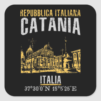 Catania Square Sticker