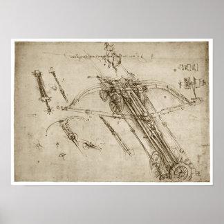 Catapult, Leonardo da Vinci, 1490 Posters