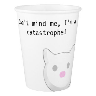 Catastrophe funny phrase cat cup