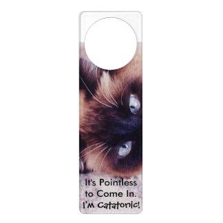 Catatonic Cat Door Hanger