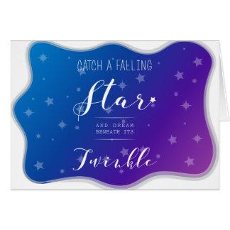 Catch a Falling Star Card
