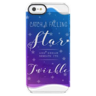 Catch a Falling Star Clear iPhone SE/5/5s Case